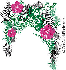 flor tropical, ropa