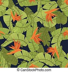 flor tropical, vector, ilustración, print.