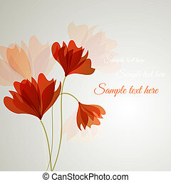 flor, vector, plano de fondo