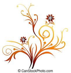 flor, videira