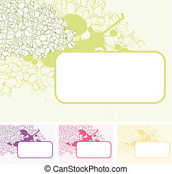 Flora background with the lilac