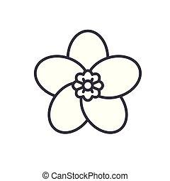 Flora black icon concept. Flora flat  vector symbol, sign, illustration.