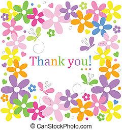 florais, tu, borda, agradecer