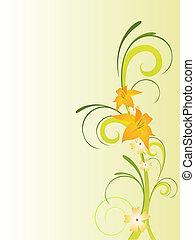 floral, élégant, conception