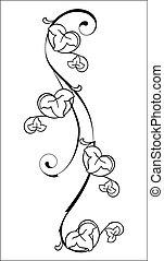 floral, élément