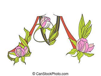 floral, 2., fonte, m, letra