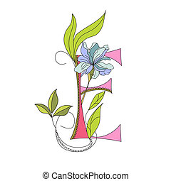 floral, 2., fuente, e, carta