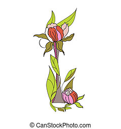 floral, 2., police, lettre