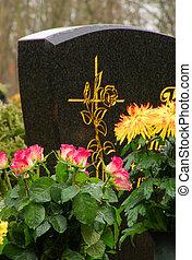 floral, 24, cimetière, arrangement