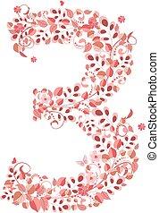 floral 3, romantique, nombre
