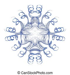Floral 3D fractal decoration