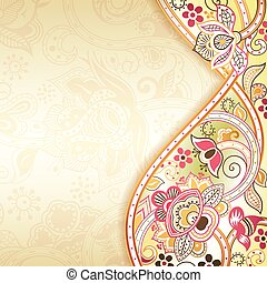 floral, abstract, achtergrond