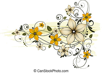 Floral abstract background. - Abstract vector illustration....