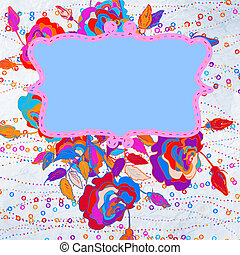 Floral abstract background. EPS 8