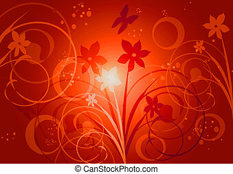 Floral abstract backgroun