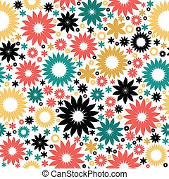 Floral abstract background, seamless pattern