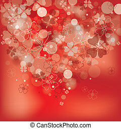 Floral abstract background, vector, eps10
