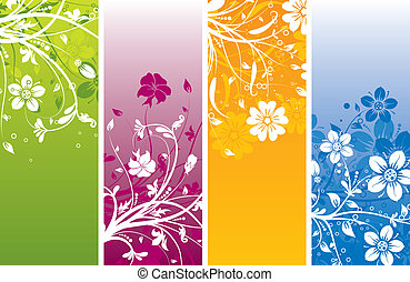 Floral abstract background, vector