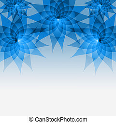 Floral abstract blue background with flowers