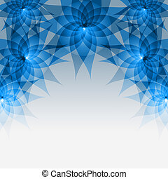 Floral abstract blue- gray background with flowers