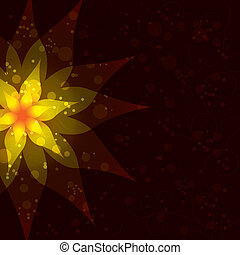 Floral abstract dark background, invitation or greeting card