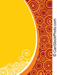 floral abstract designed background in yellow and orange