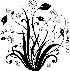 Floral abstract - Hand drawn floral design