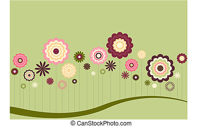 Floral Abstract in muted Spring colors