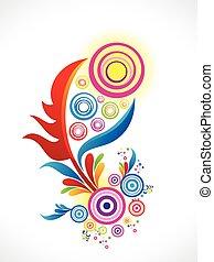 floral, abstract, kleurrijke, artistiek, background.eps