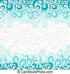 floral, abstract, pattern., seamless