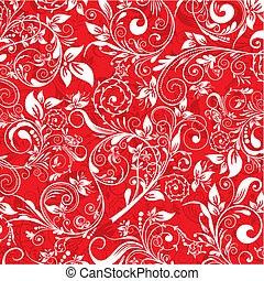 Floral abstract pattern, vector illustration
