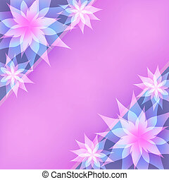 Floral abstract purple background, invitation or greeting card