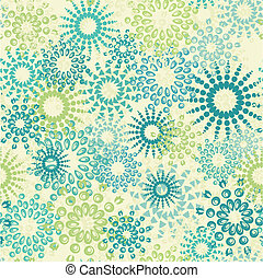floral abstract seamless pattern