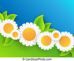 floral abstract vector frame