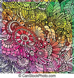 floral, abstract, veelkleurig, achtergrond