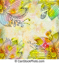 Floral abstract watercolor