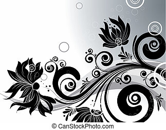 Floral abstraction - Abstract illustration for design