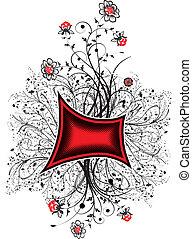 floral, abstratos, caos