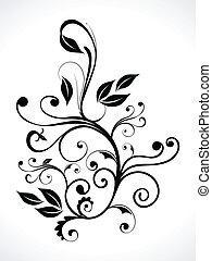 floral, abstratos, curva
