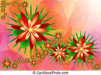 floral, abstratos