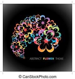floral, abstratos, fundo