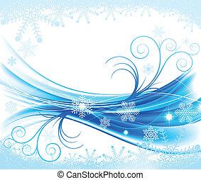 floral, abstratos, inverno, fundo
