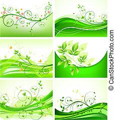 floral, abstratos, jogo, fundos