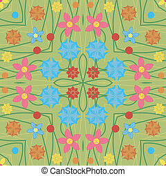 floral, abstratos, pattern., seamless