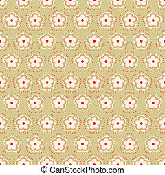 floral, abstratos, pattern., vector.