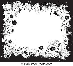 floral, abstratos, quadro