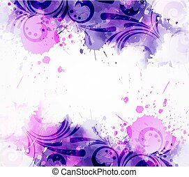 floral, abstratos, redemoinhos, fundo
