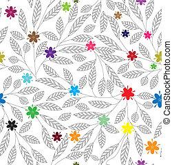 floral, abstratos, seamless, fundo