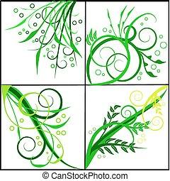 floral, abstratos, vetorial, backgrounds-