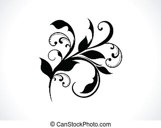 floral, abstratos, vetorial, fundo